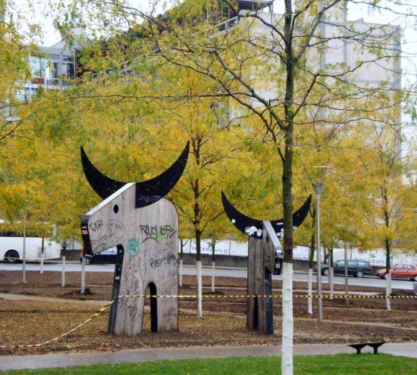 Escultura en Plaza de Santa Gudula