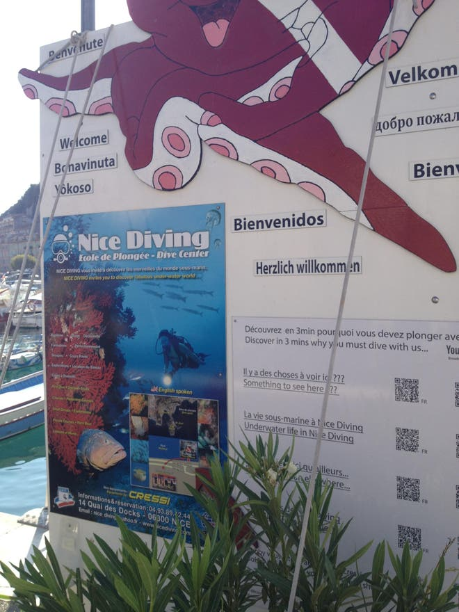 Señal en Nice diving