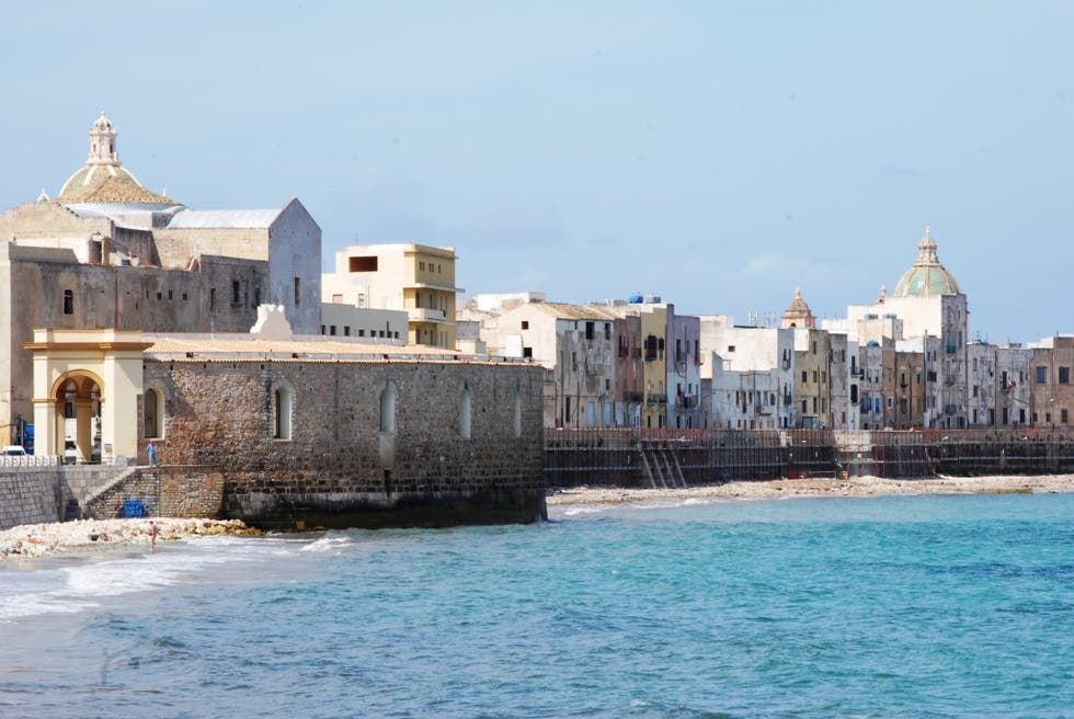 Sea in Trapani