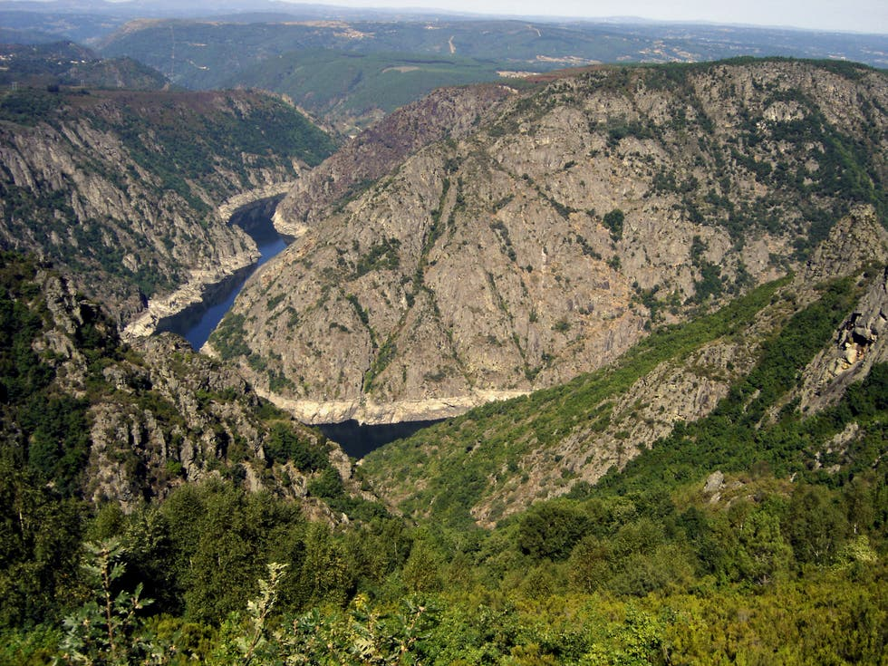 Mountain in Route through the Canyon of the River Mao - Ribeira Sacra