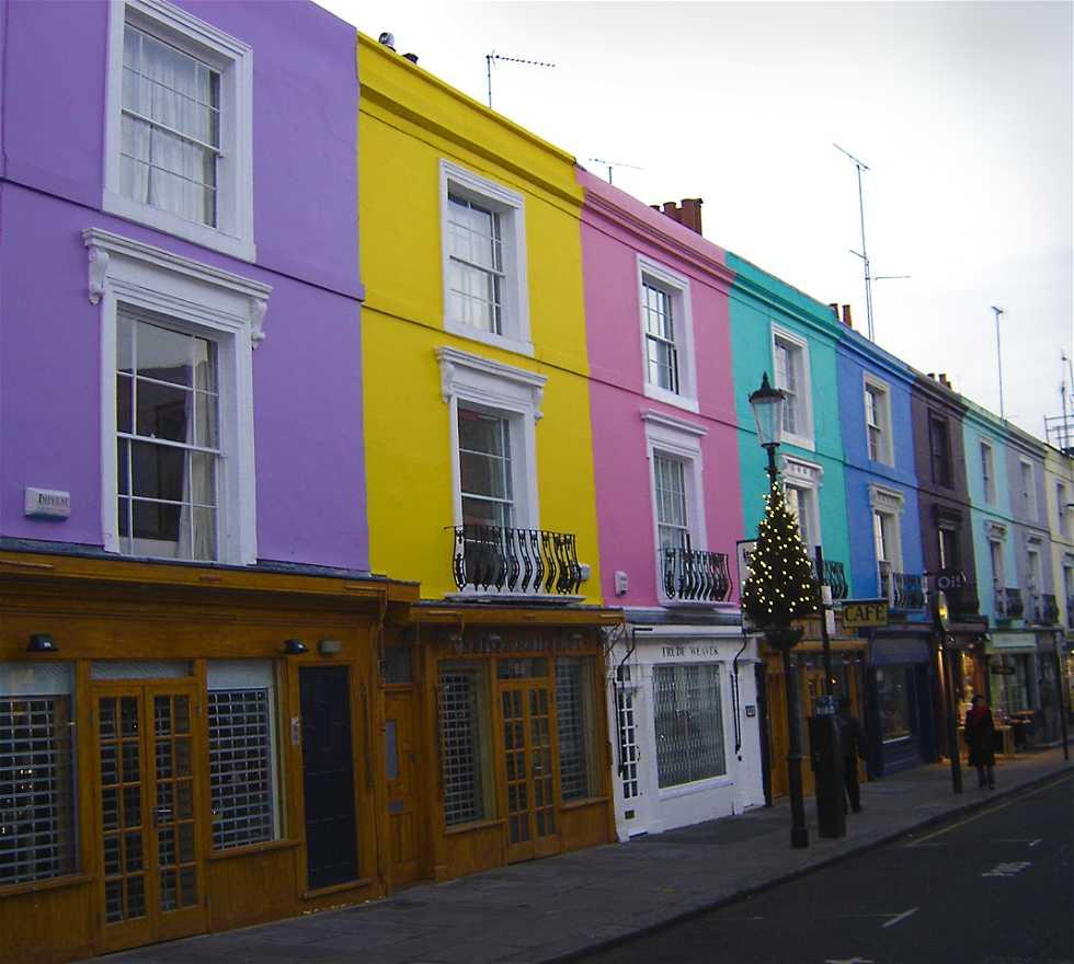 Color rosa en Notting Hill