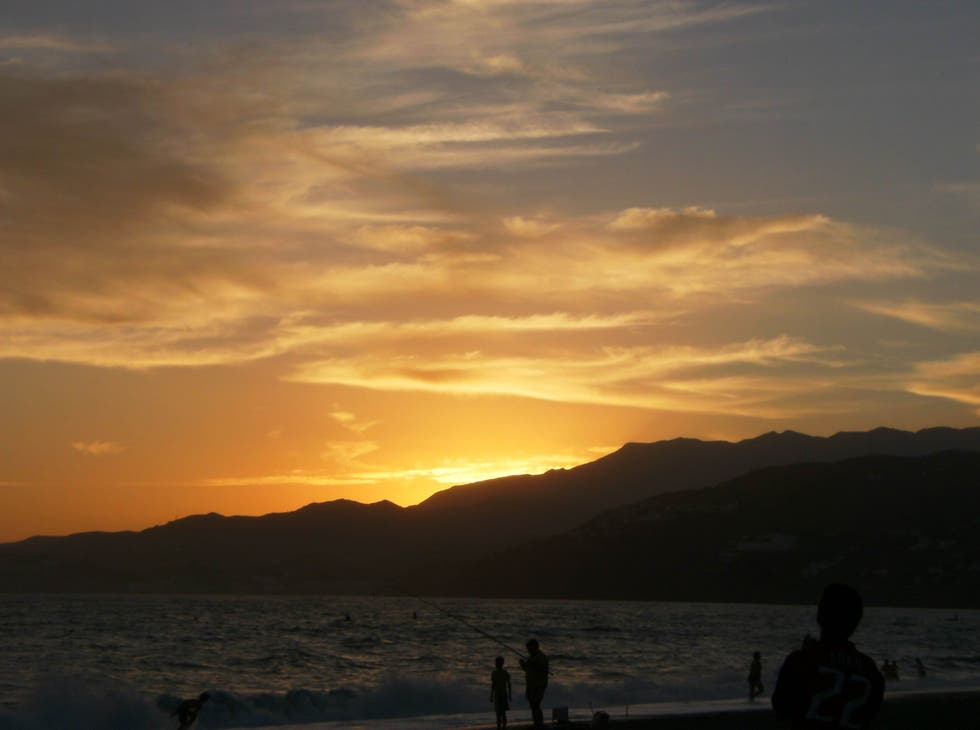 Sunset in Salobreña