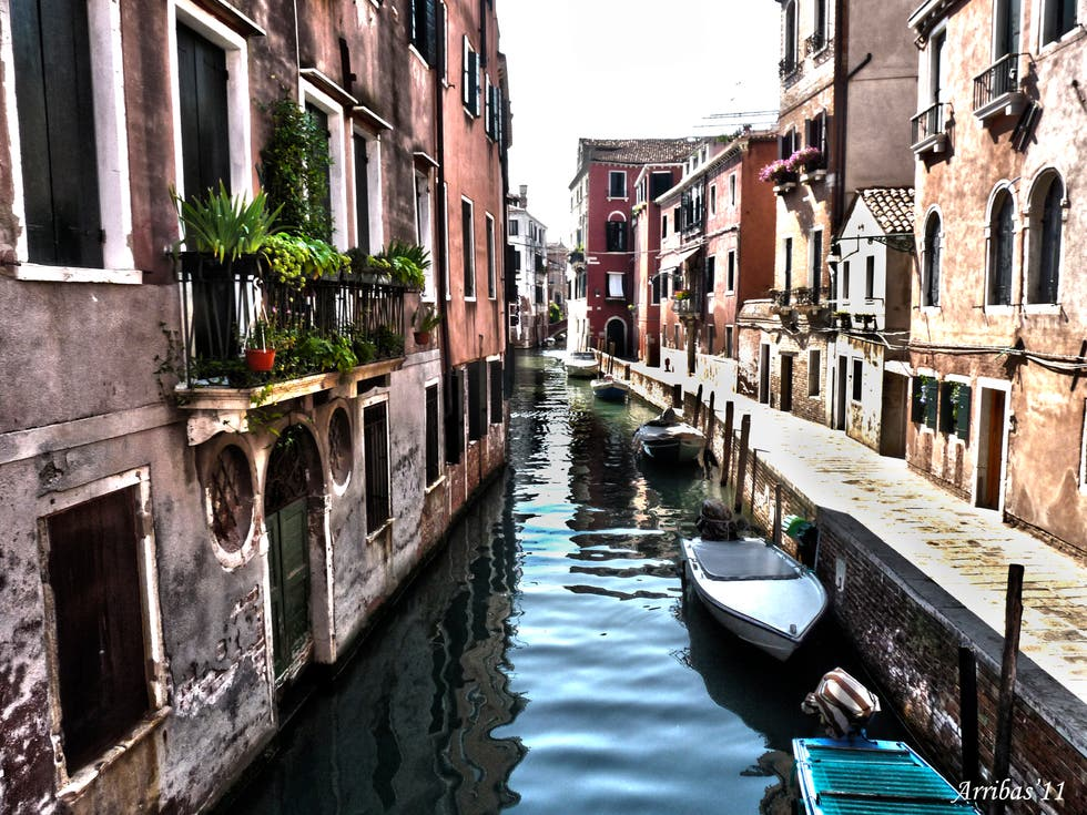 Waterway in Venice