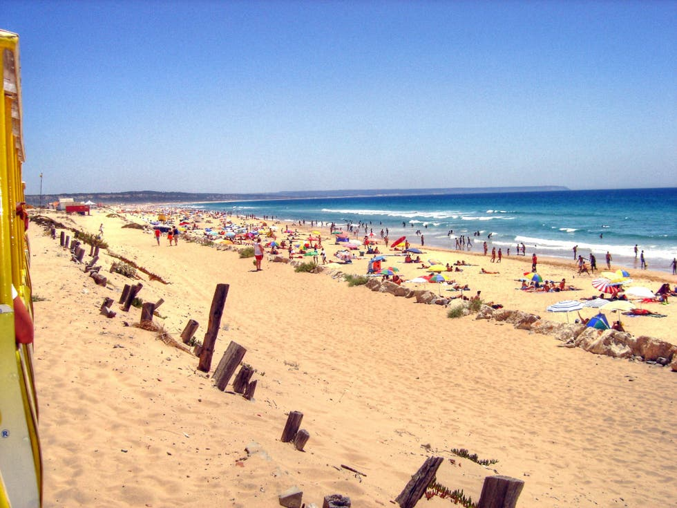Beach in Caparica