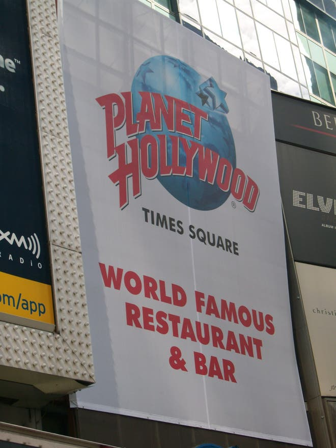 Póster en Planet Hollywood