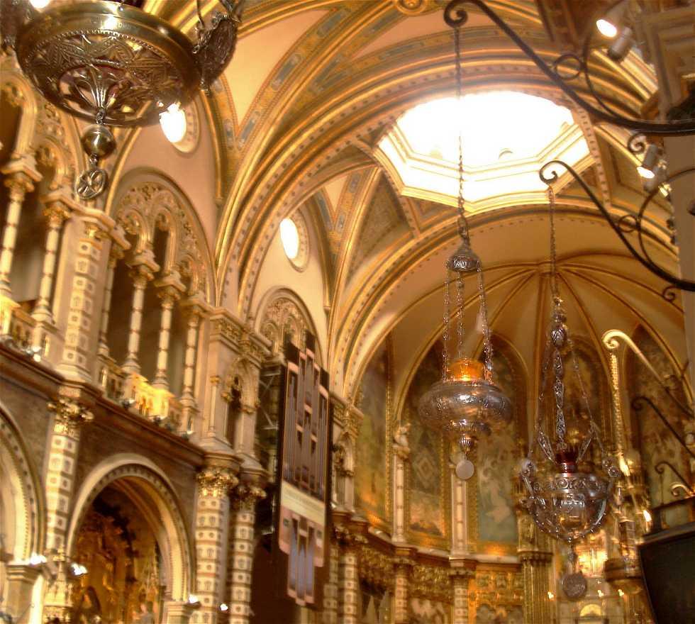 Techo en Abadia de Montserrat