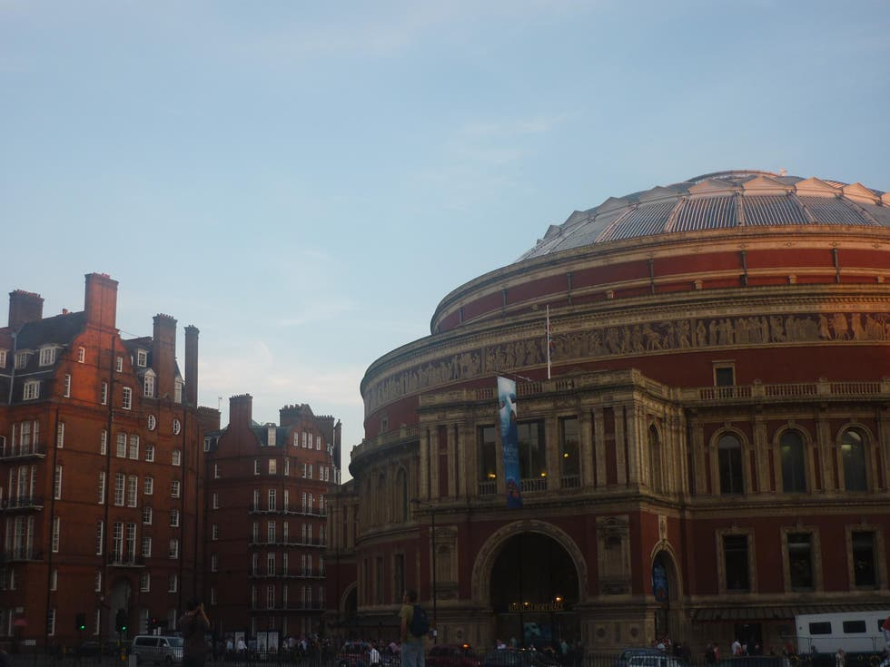 Color rosa en Royal Albert Hall