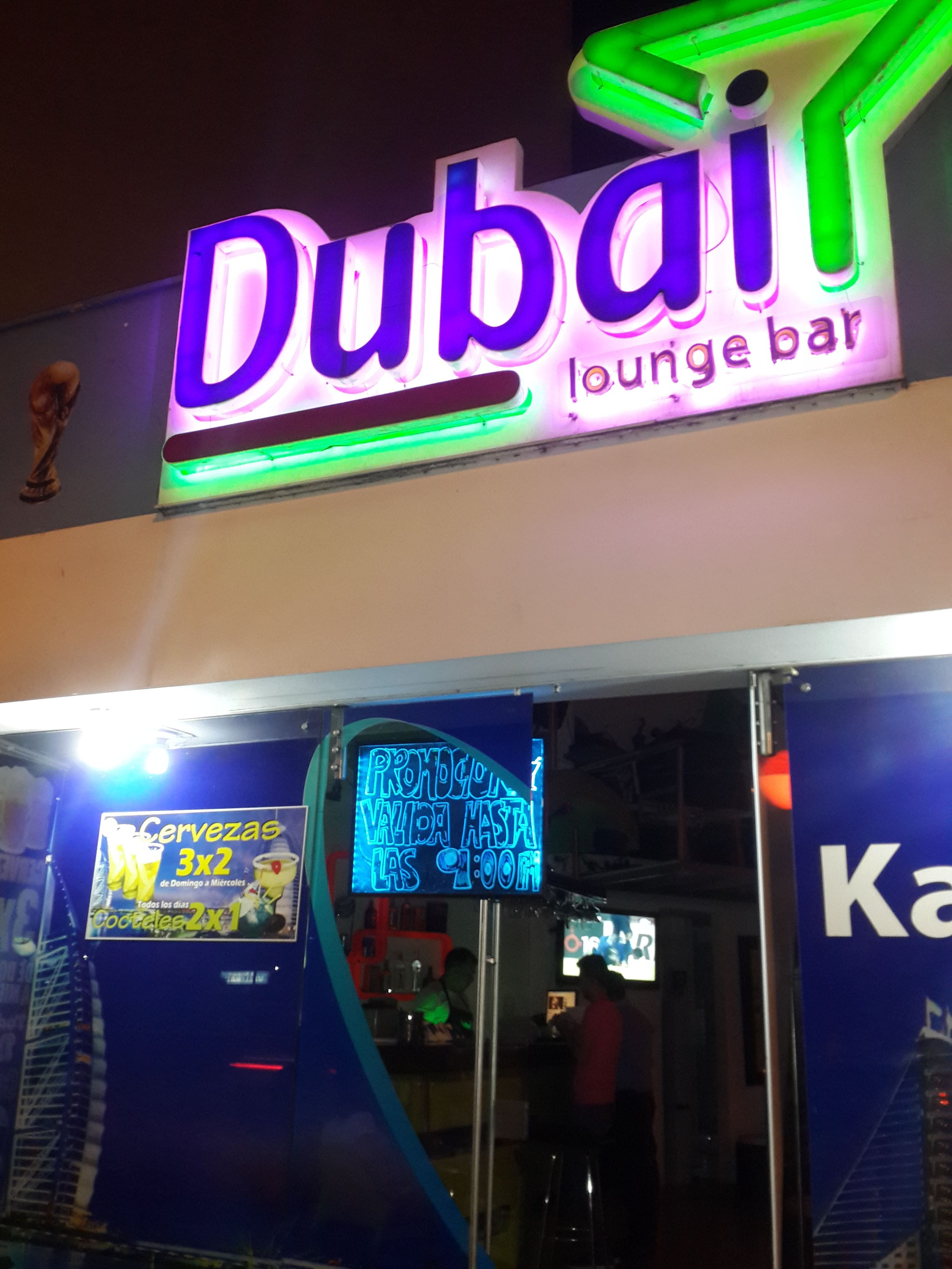 Signage in Dubái Lounge Bar