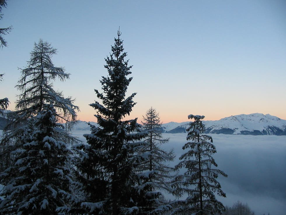 Reflection in Les Arcs