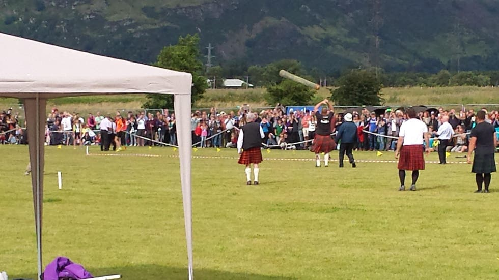 Fútbol en Stirling Highland Games 2015