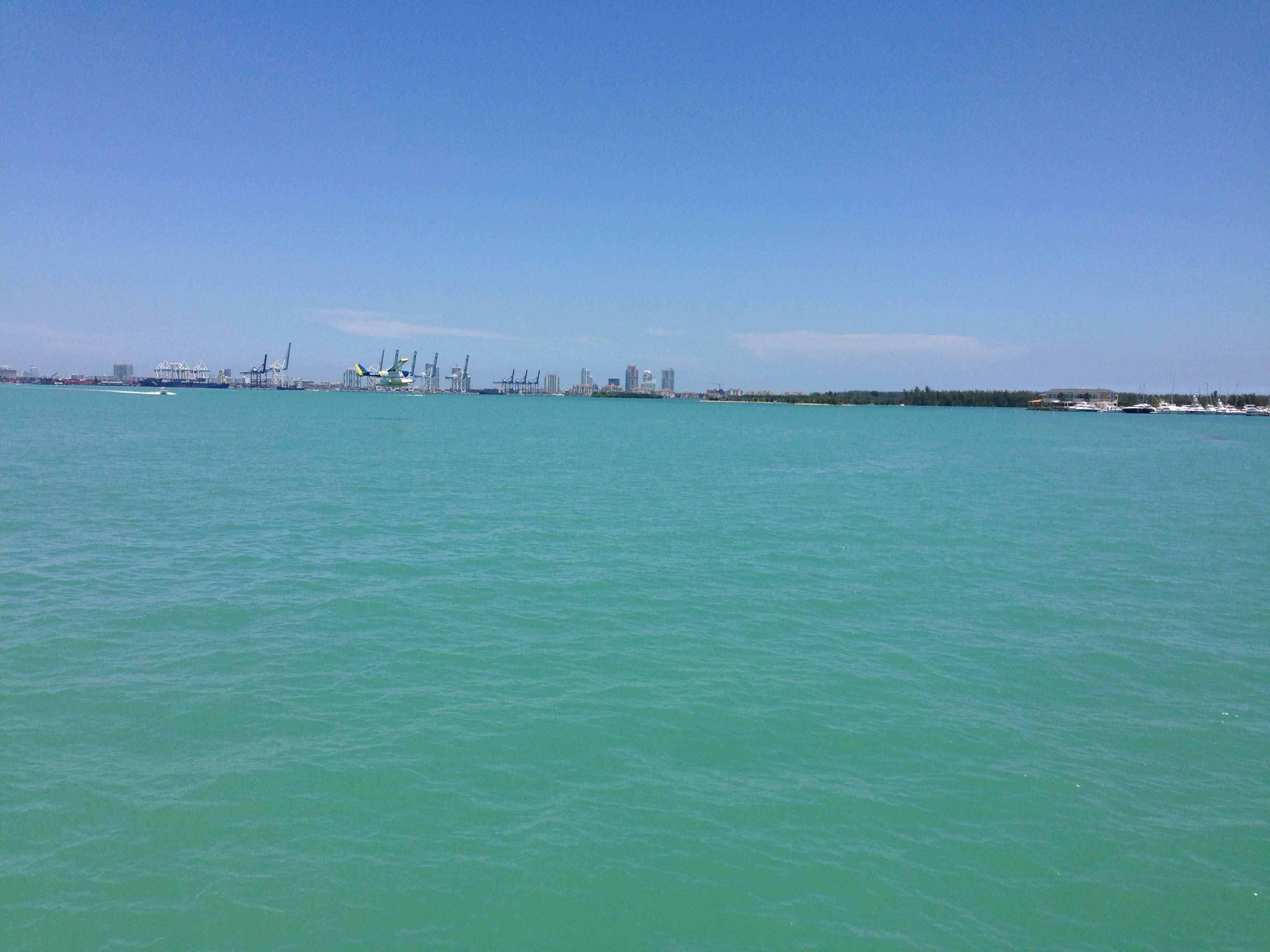 Water in Key Biscayne from Miami