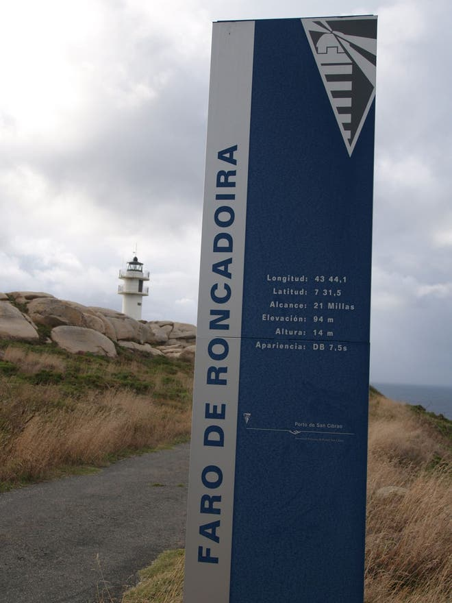 Stela a Roncadoira lighthouse.