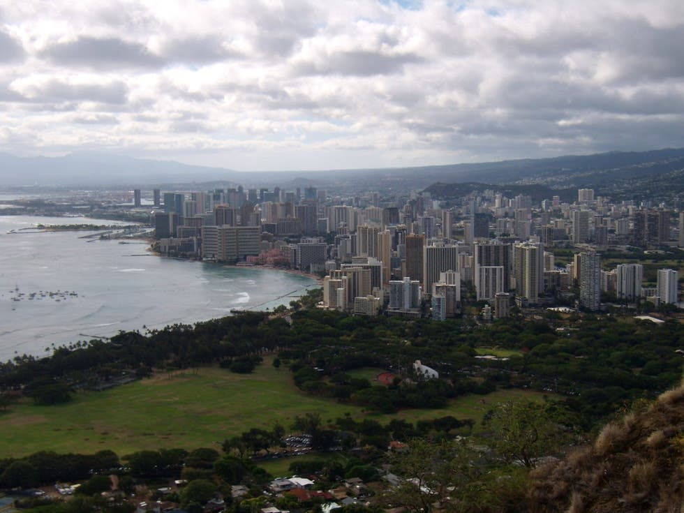 Ciudad en Monumento estatal Diamond Head