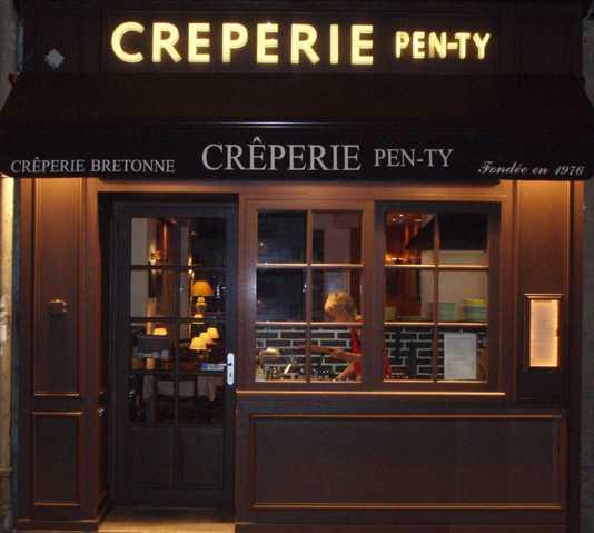 Restaurante en Creperia Pen-Ty, Paris, Francia