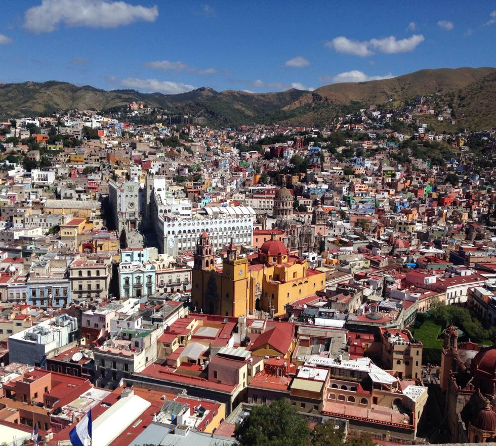 área urbana em Guanajuato