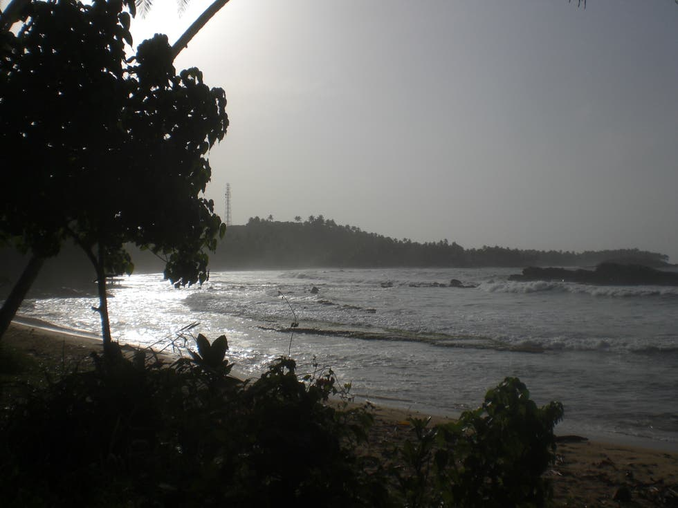 Mar en Sri Lanka costa sur