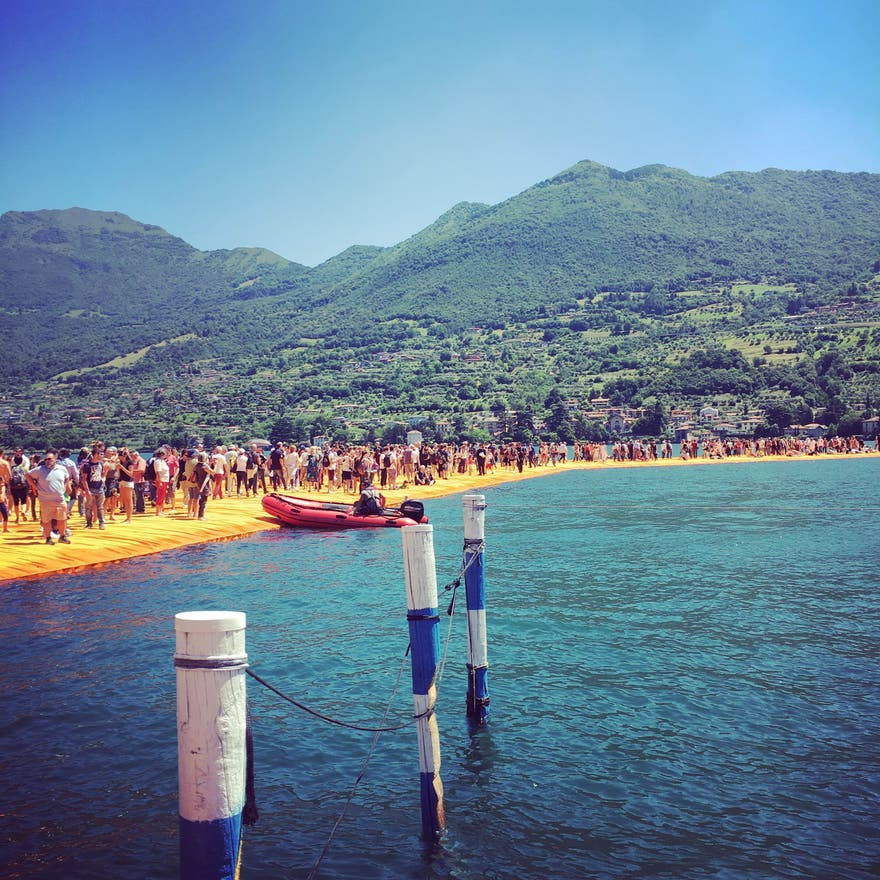 Mar en The Floating Piers