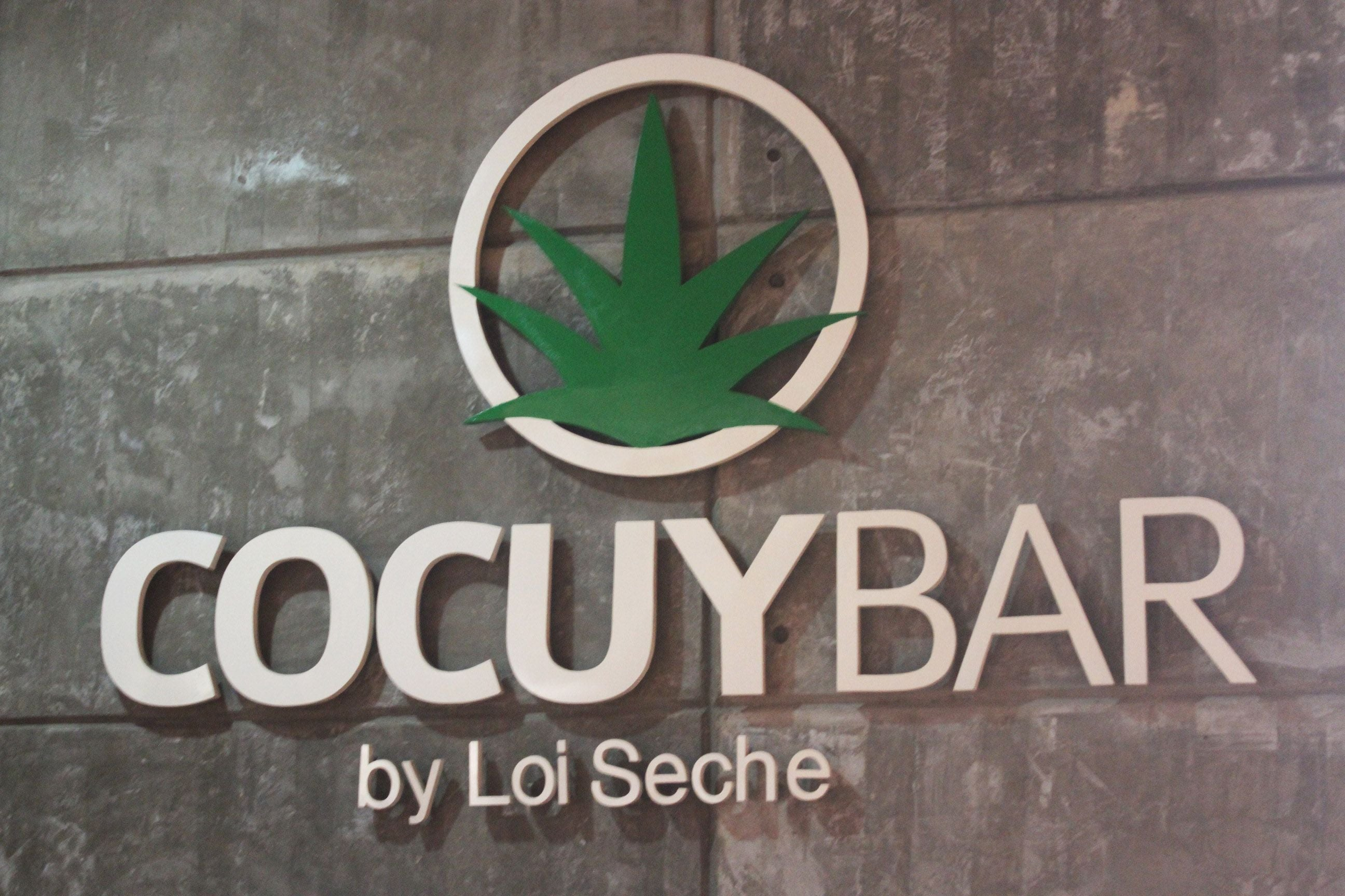 Signage in Cocuy Bar