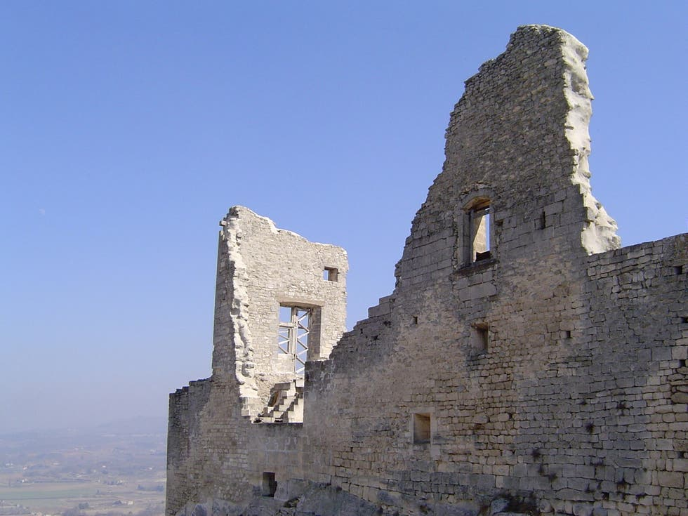 ruins in Lacoste