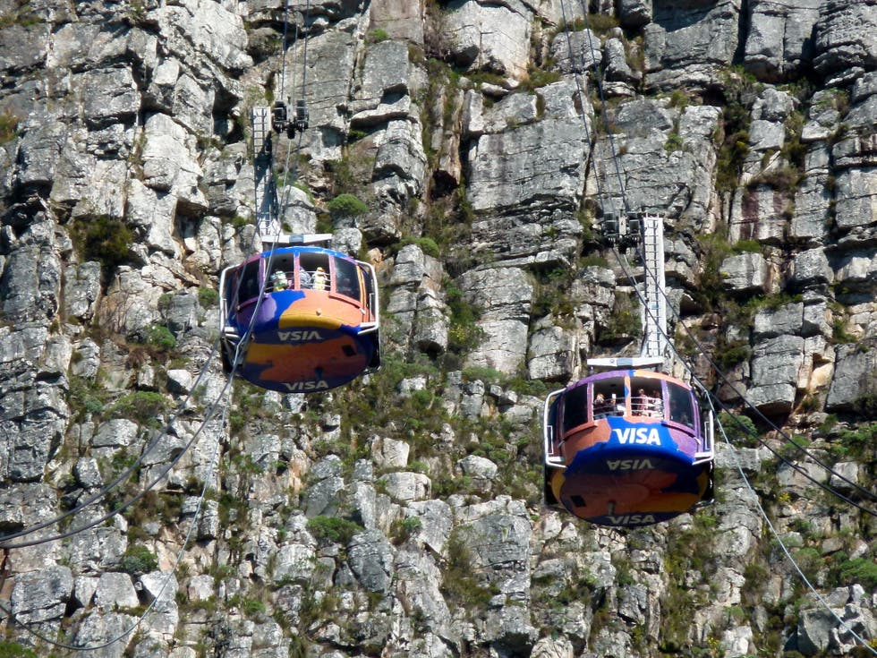 Teleférico en Teleférico de Table Mountain
