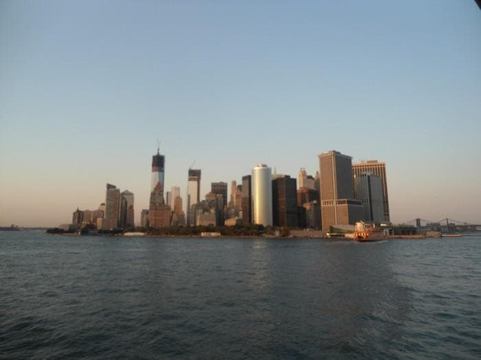 Skyline en Vista de Manhattan desde el ferry