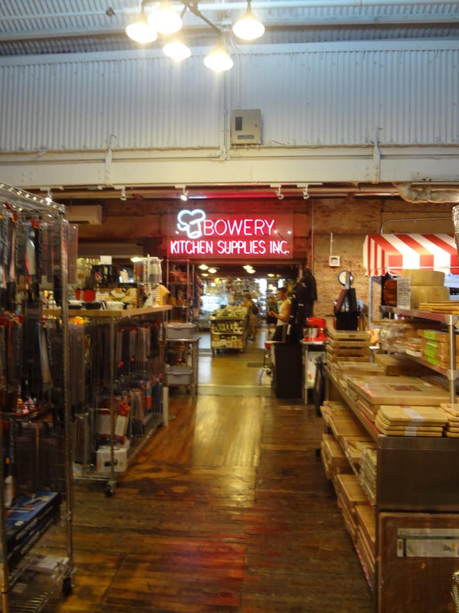 Restaurante en Bowery Kitchen supplies