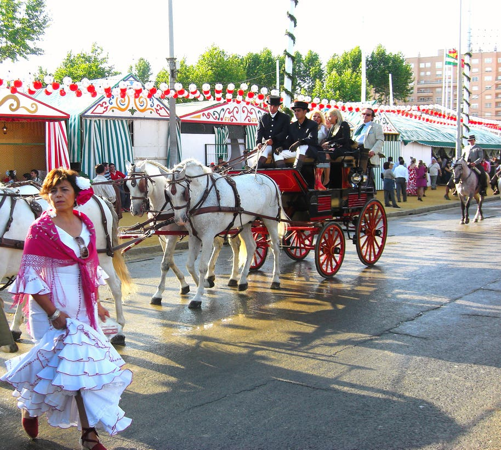 Vehículo en Feria de Abril