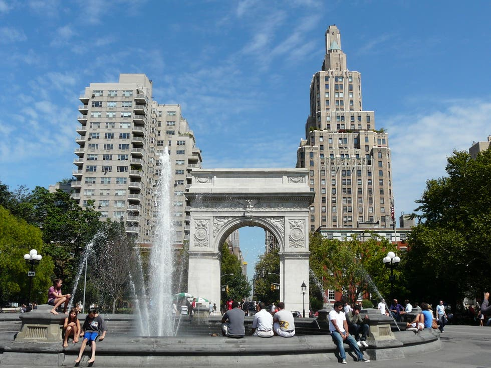 Ciudad en Washington Square Park