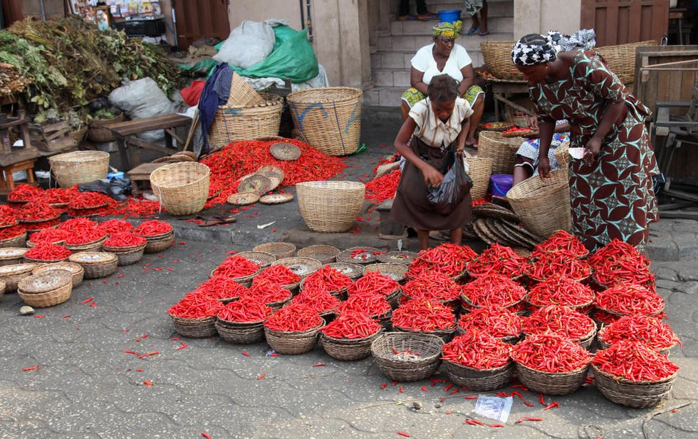 Red in Cotonou