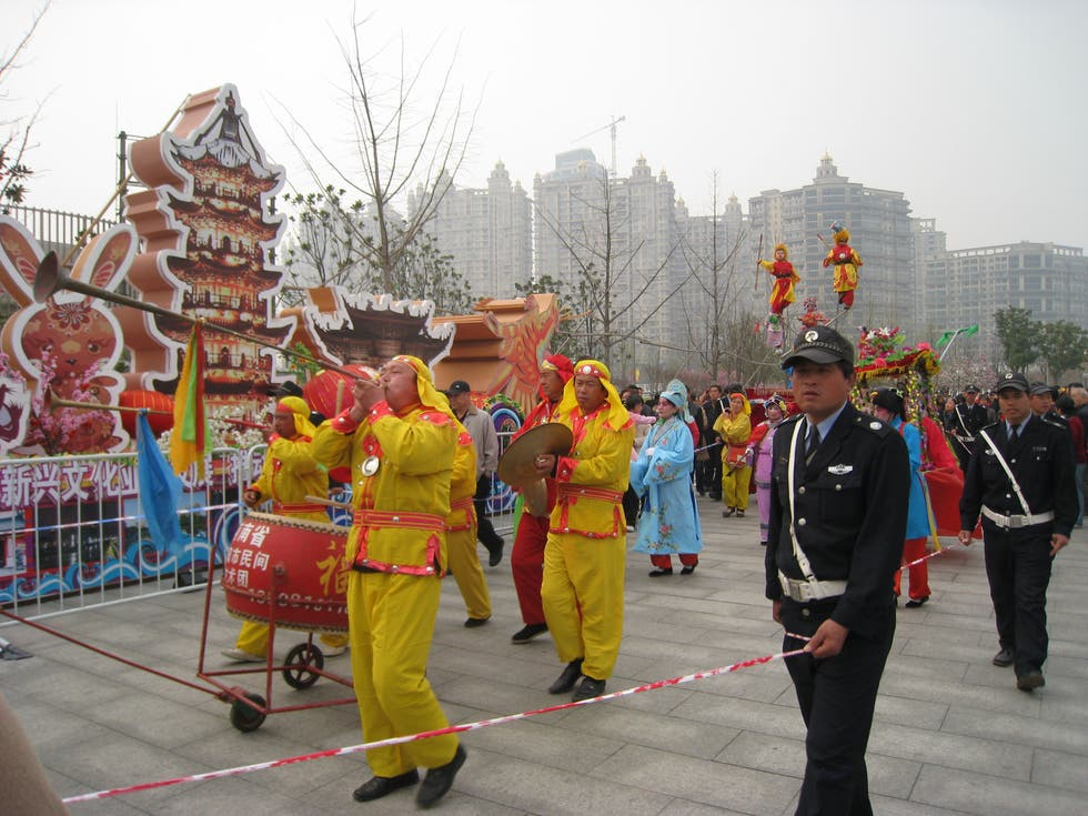 Marcha en Longhua Temple Fair