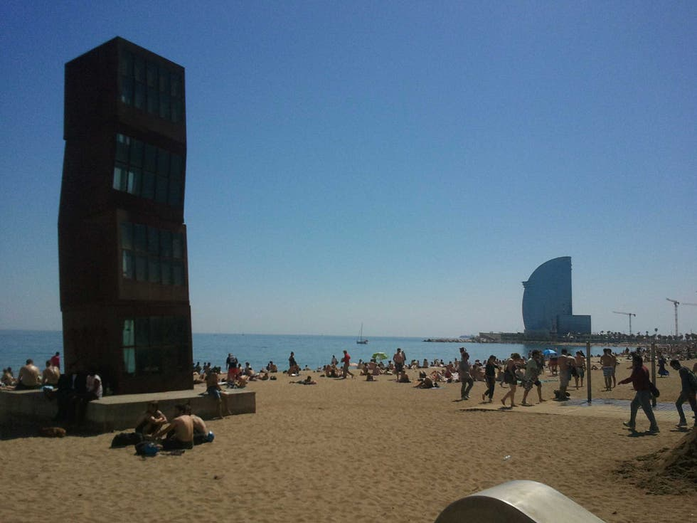 Mar en Playa de la Barceloneta
