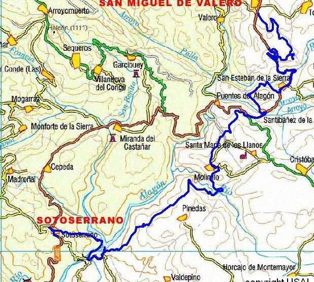 Mapa en Ruta ciclista de Alagón