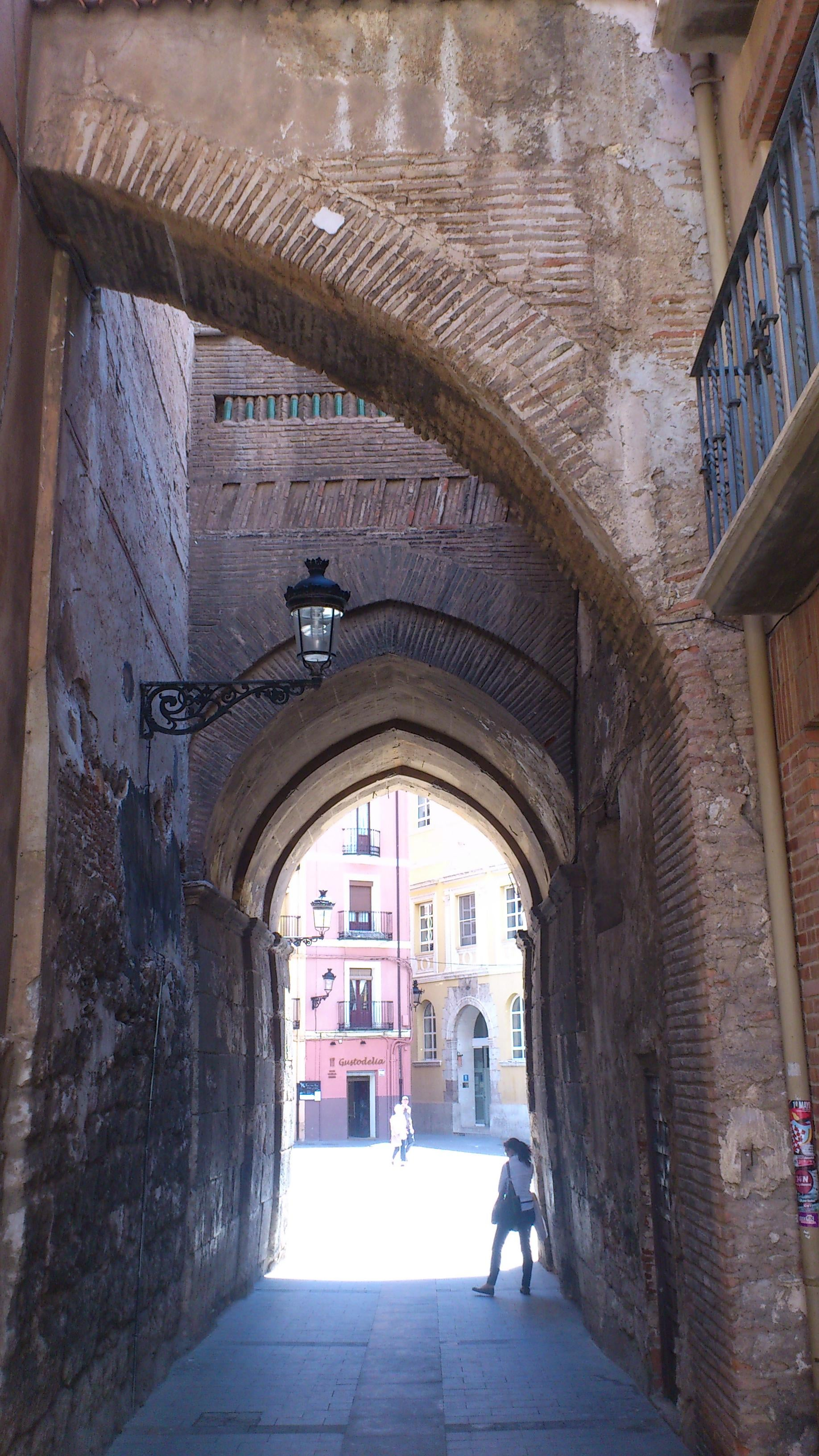 Arch in Teruel Cathedral and the Mudéjar Towers