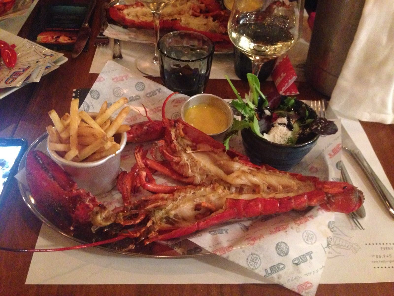 Dish in TED Lobster and Burgers