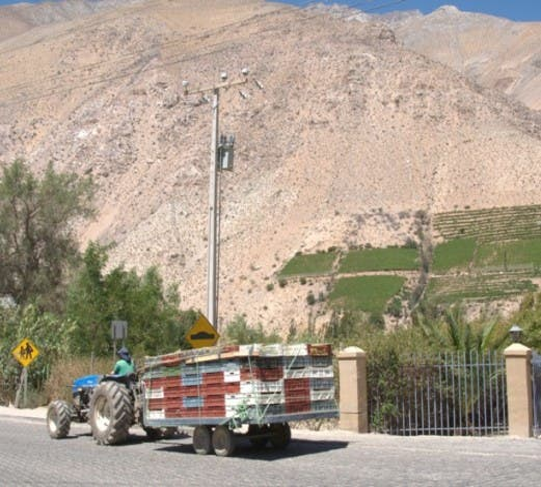 Vehículo en Paihuano