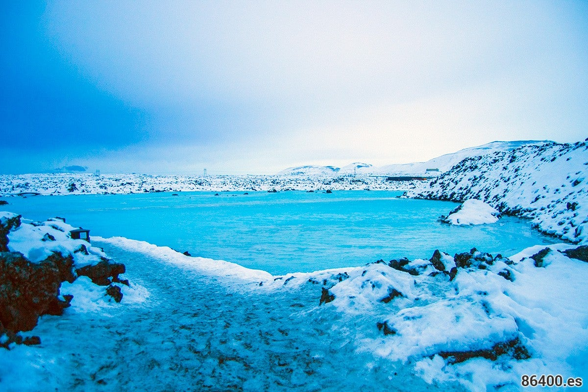 Sea in Blue Lagoon Iceland
