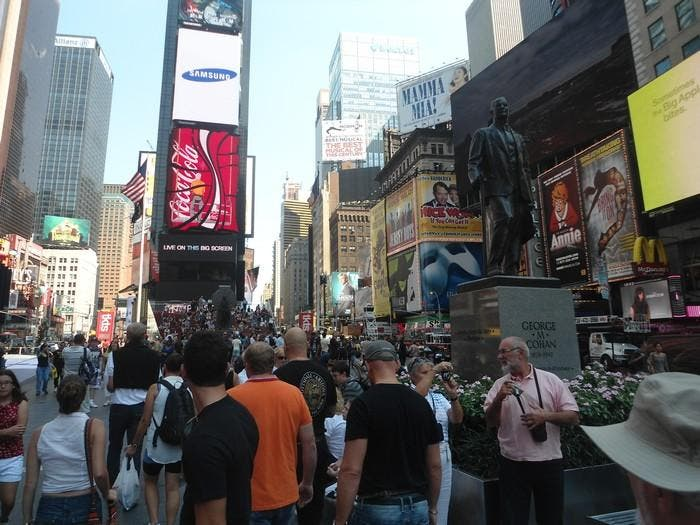 Ciudad en Father Duffy Square