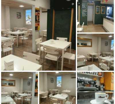 Sala en La Caffetería