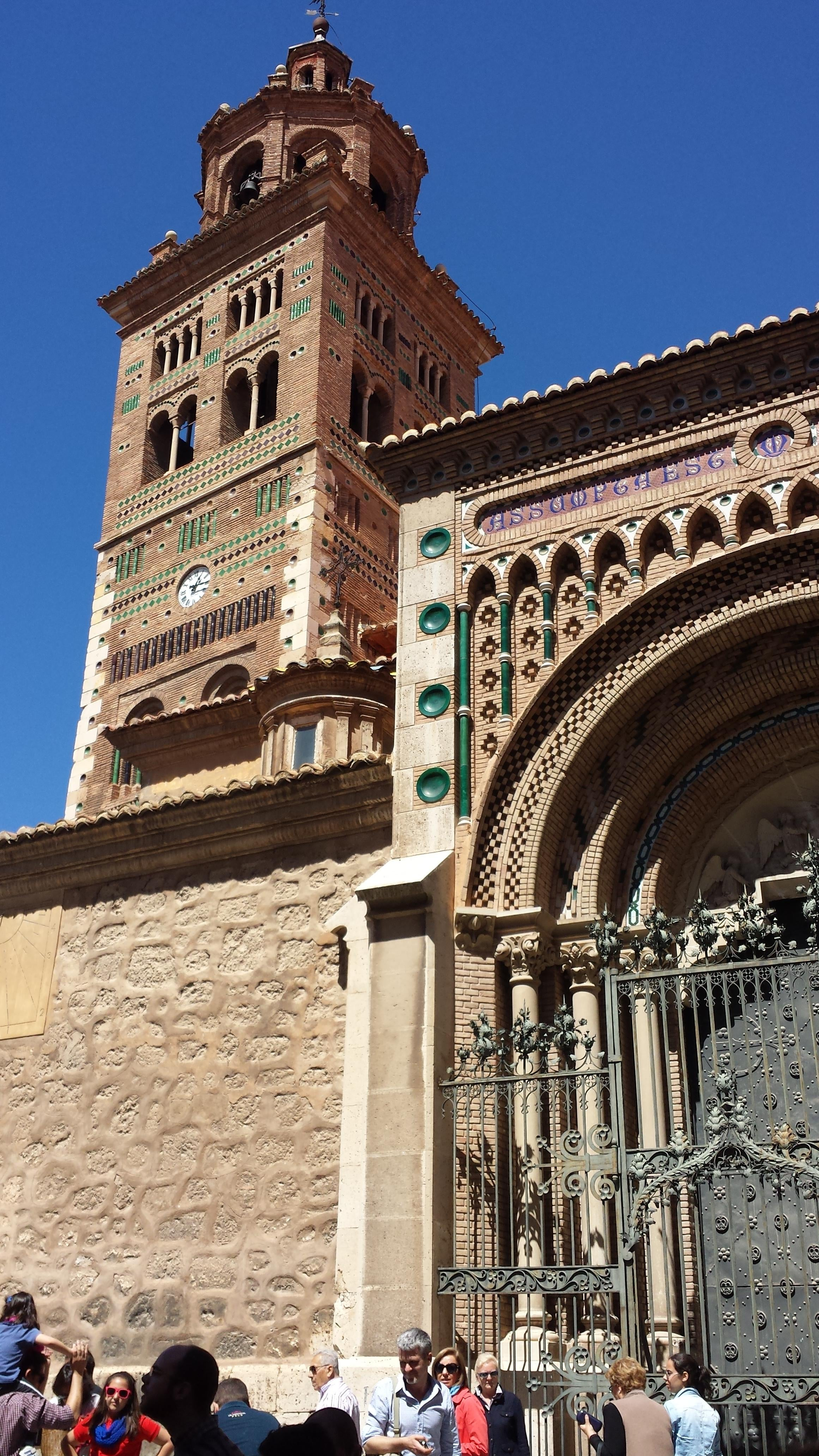 Wall in Teruel Cathedral and the Mudéjar Towers