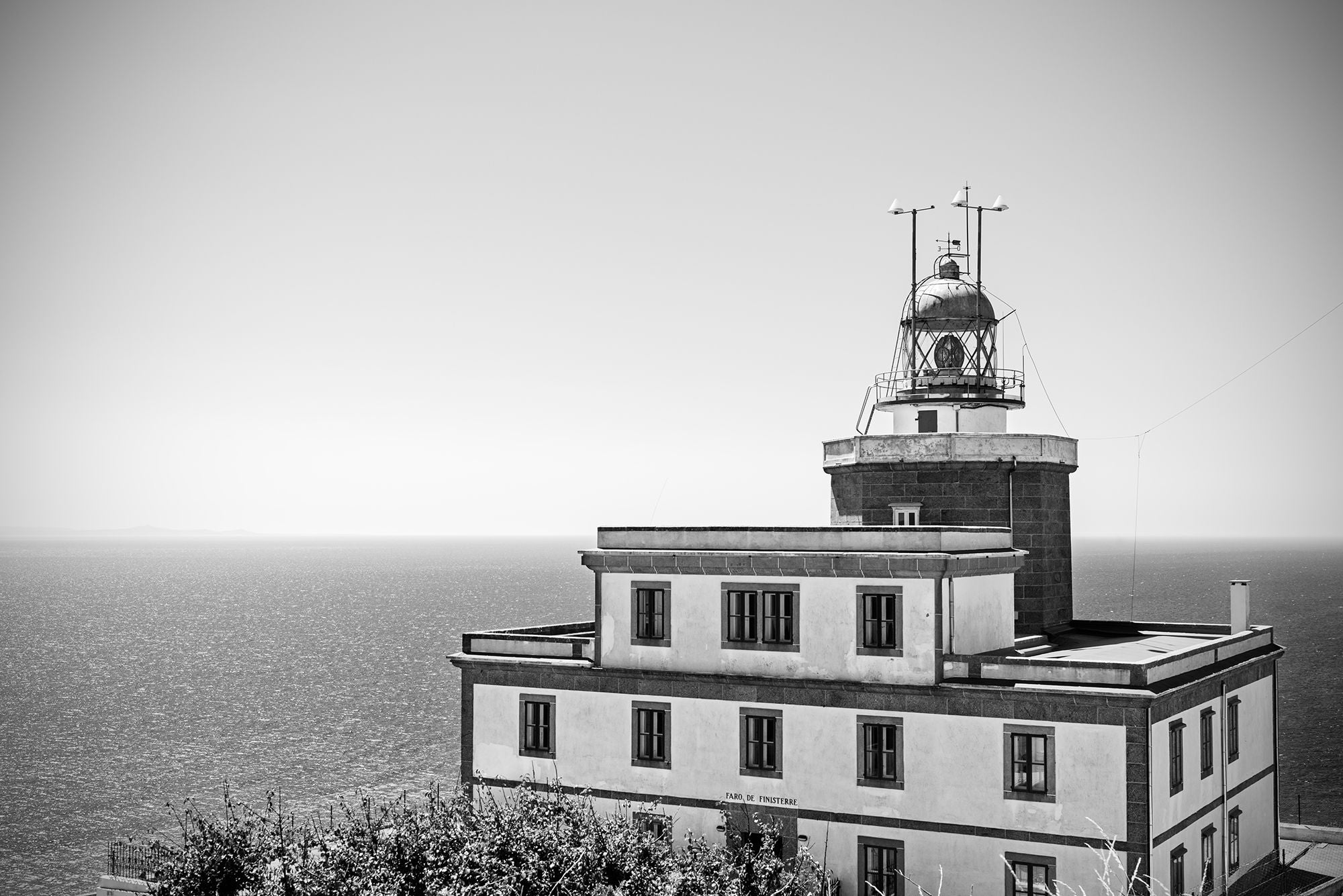Black And White in Finisterre Lighthouse