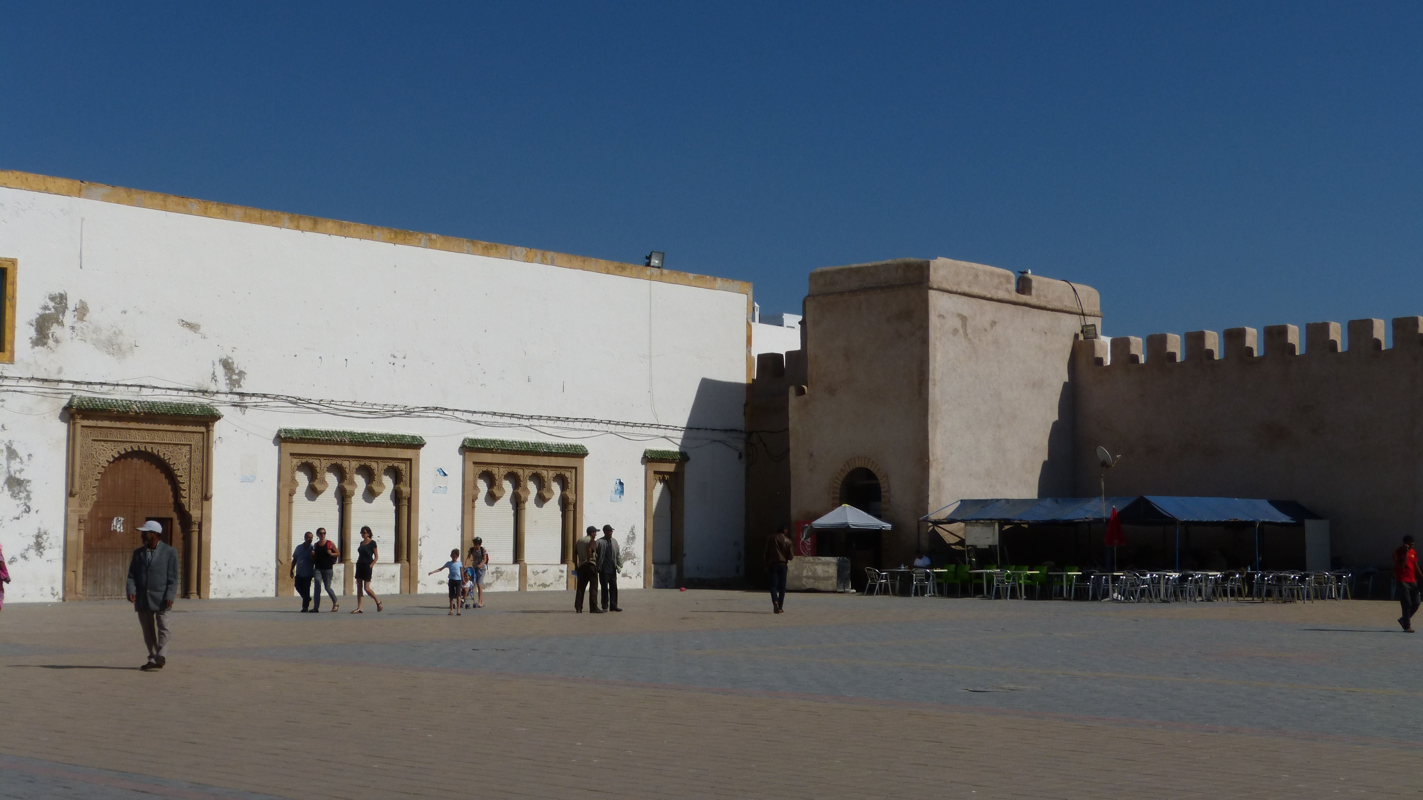 Facade in Place Moulay Hassan