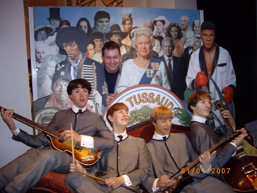 Con The Beatles en Madame Tussaud's