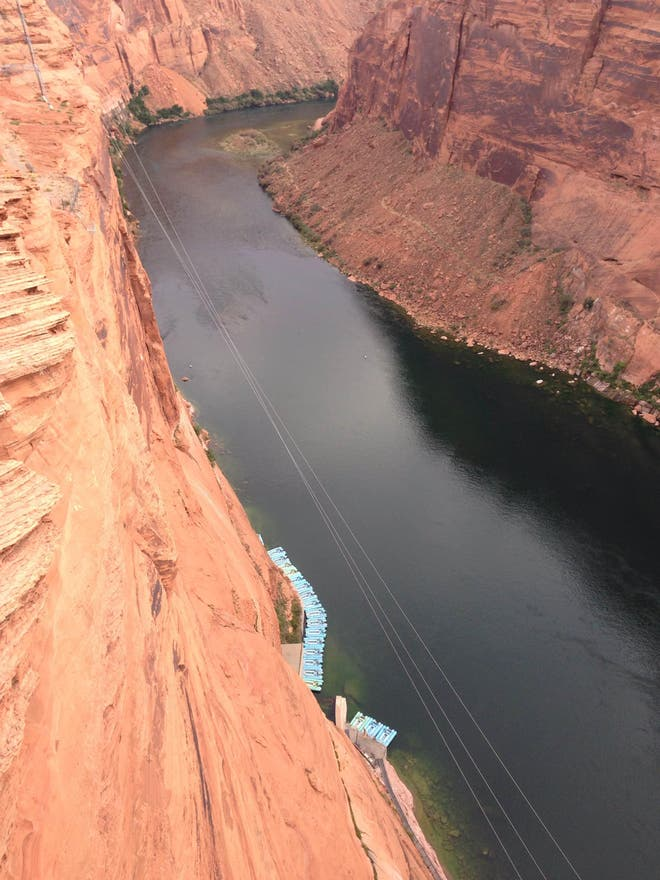 Acantilado en Glen Canyon Bridge
