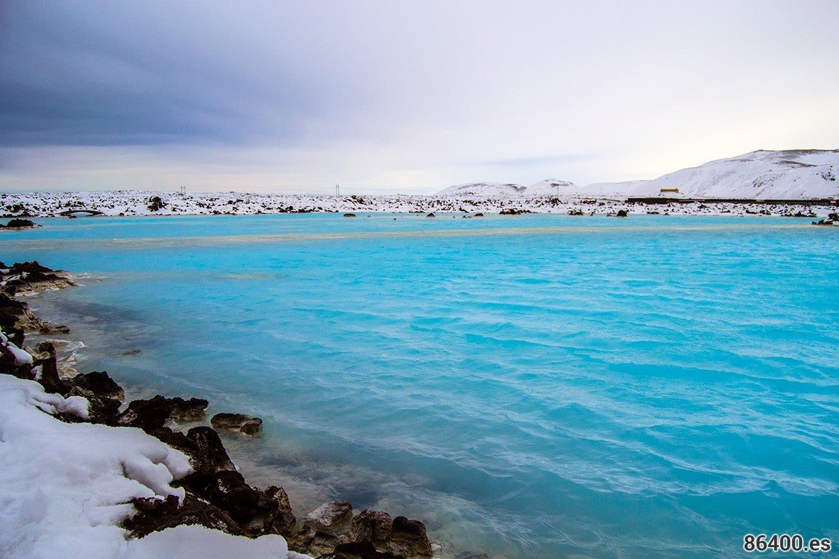 Beach in Blue Lagoon Iceland