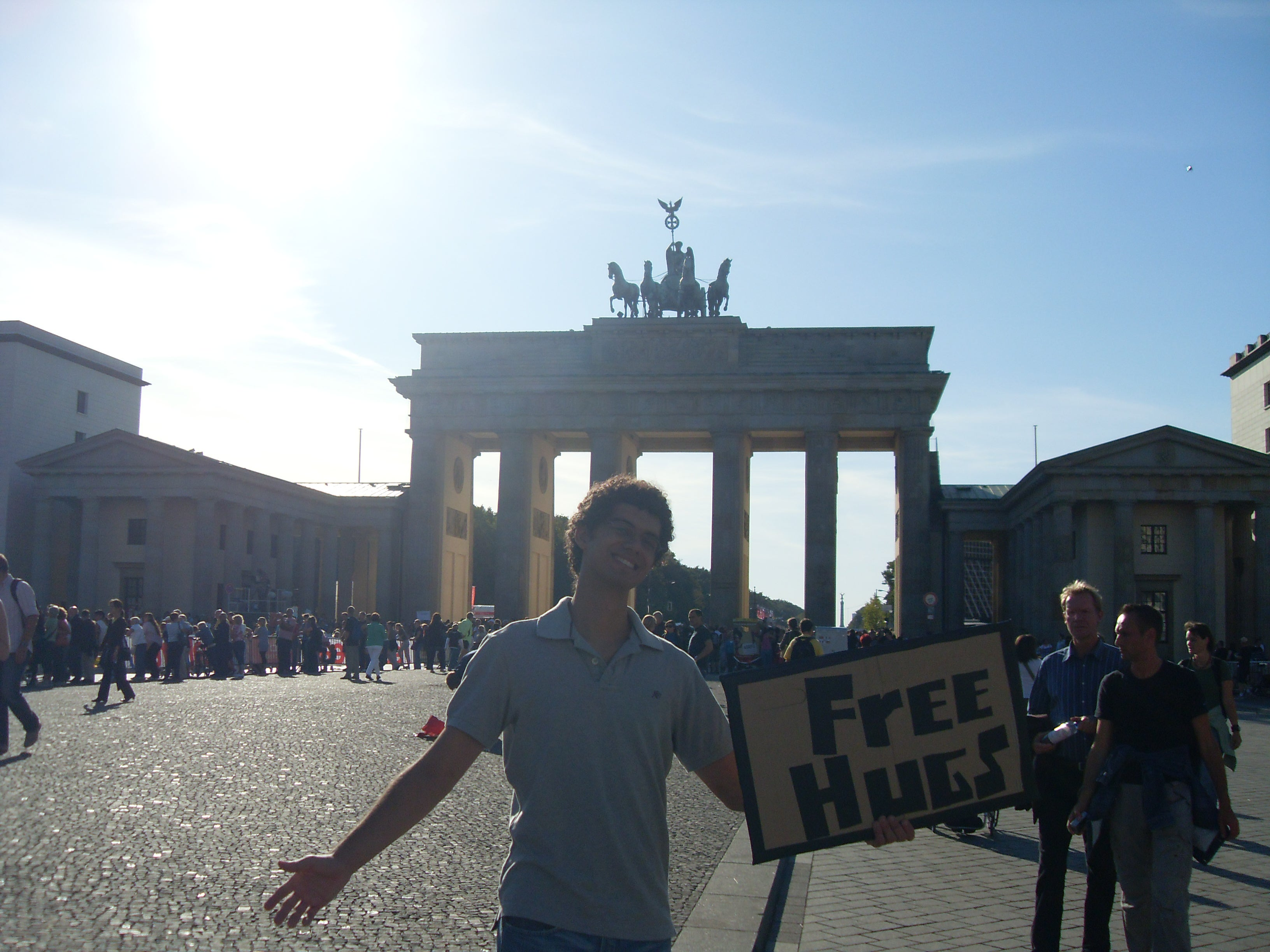 Long Distance Running in Brandenburg Gate