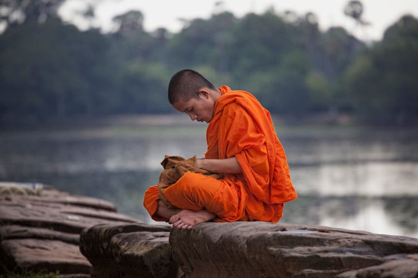 Monk in Siem Reap