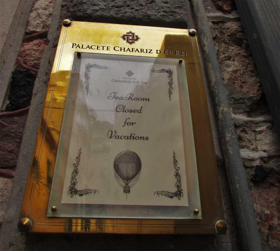 Targa commemorativa a Palacete Chafariz d'El Rei