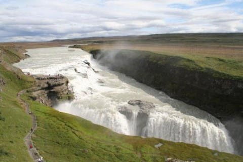Embalse en Cataratas de Gullfoss