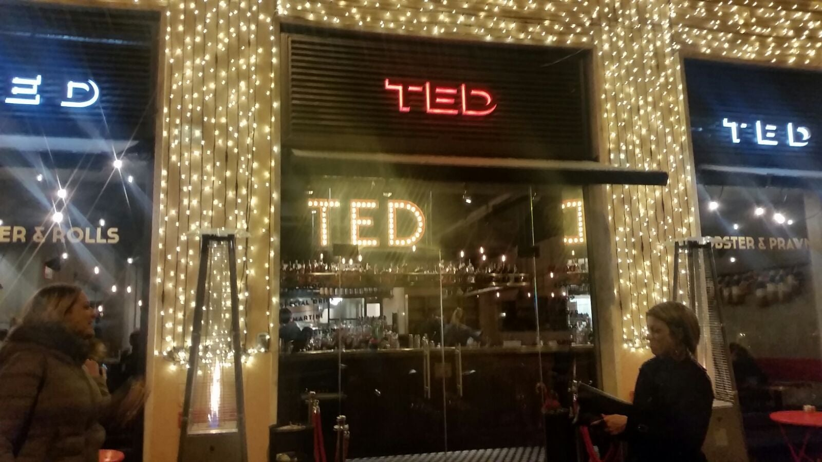 Signage in TED Lobster and Burgers