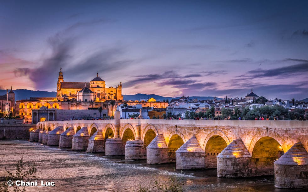 Cloud in Roman Bridge of Córdoba